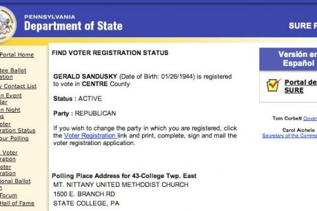 sandusky registered republican