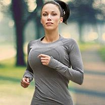 Hot Woman Jogging
